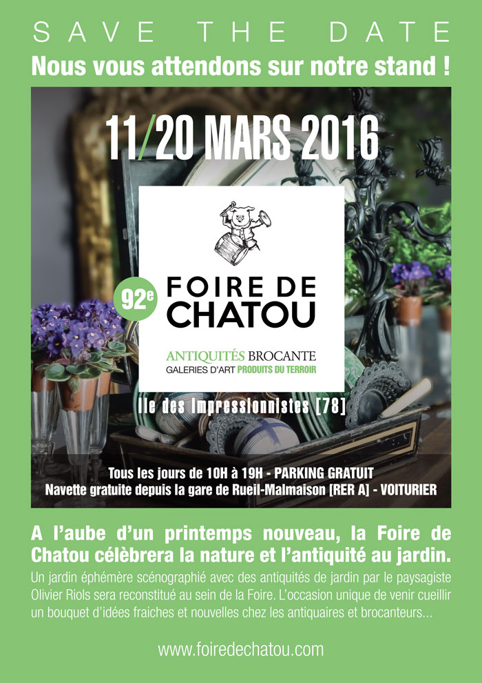 foire de chatou du 11 au 20 mars 2016. Black Bedroom Furniture Sets. Home Design Ideas