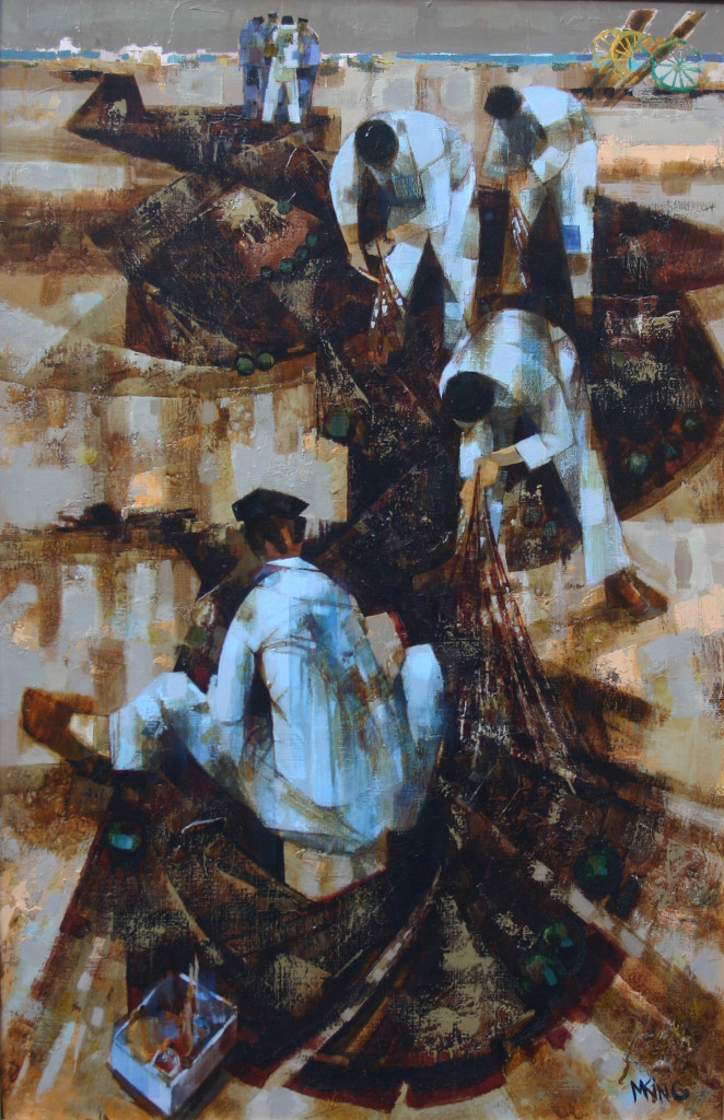 Michel King peintre de la mer