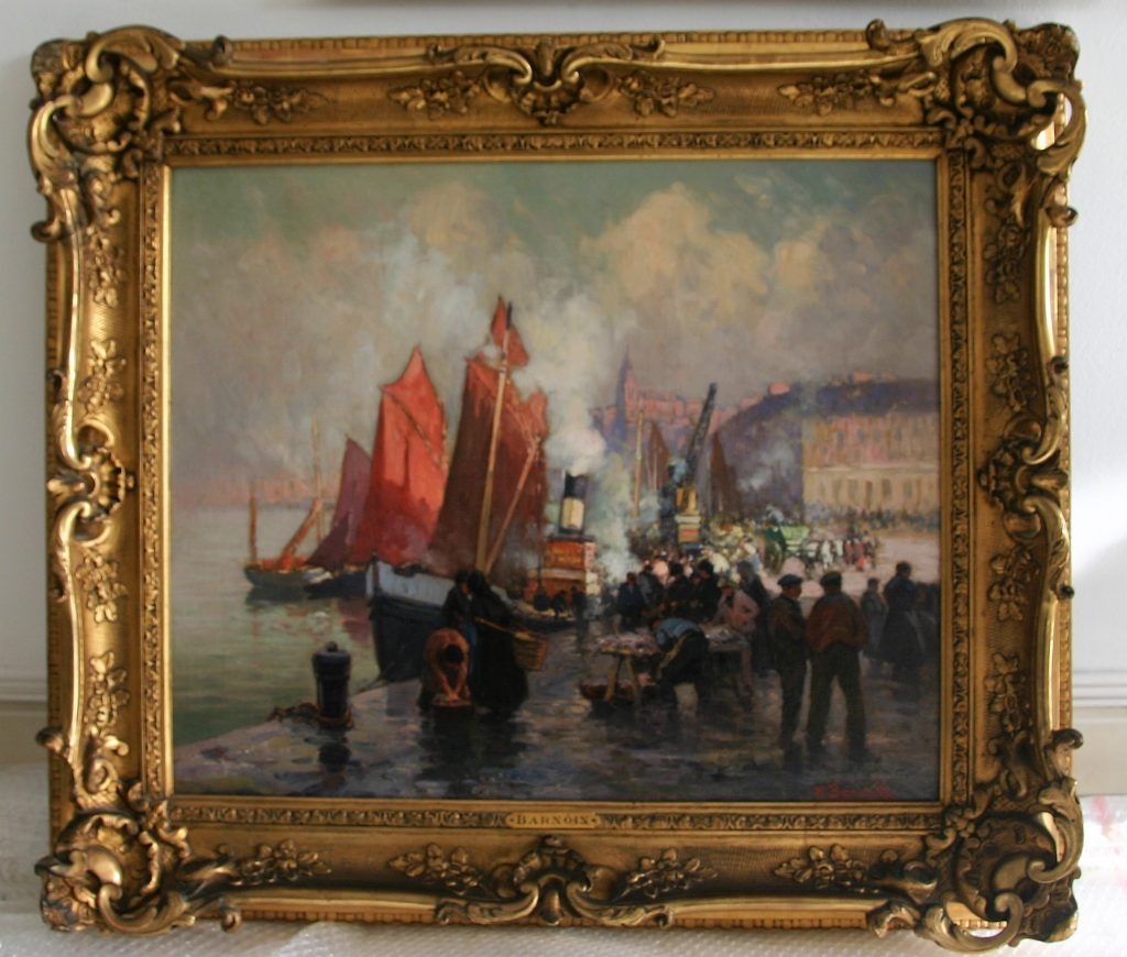 Henri Barnoin marine port animé