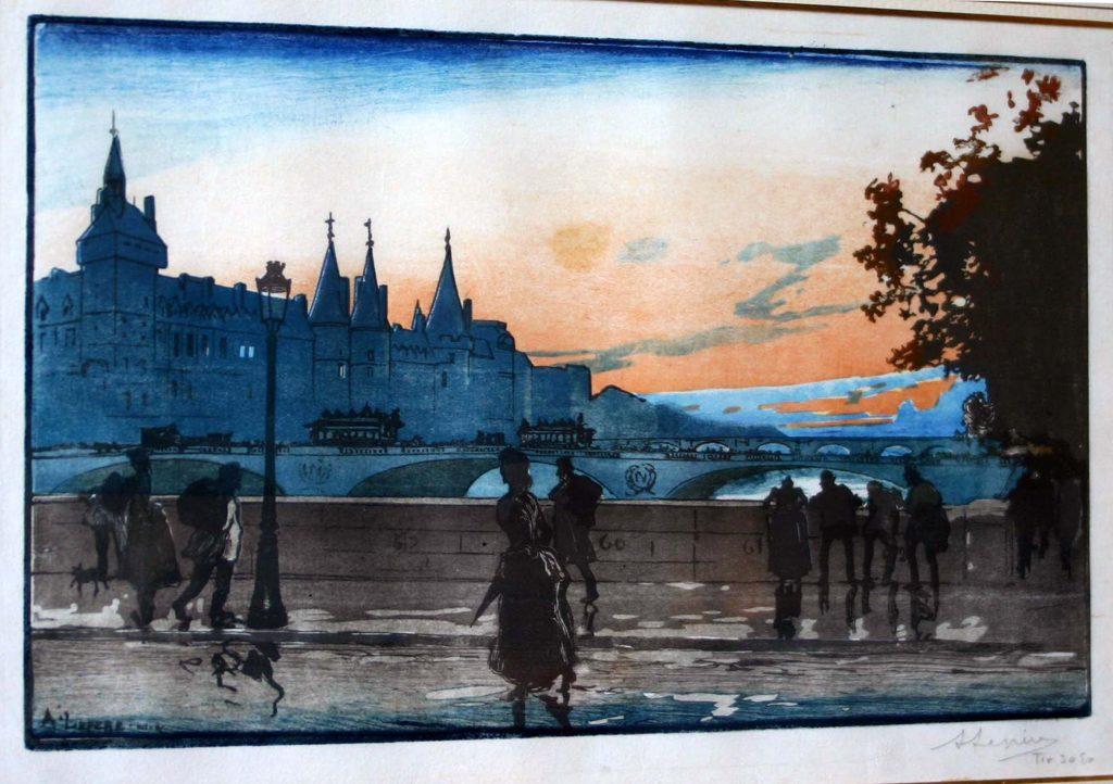 Auguste Lepere gravure sur bois en couleur