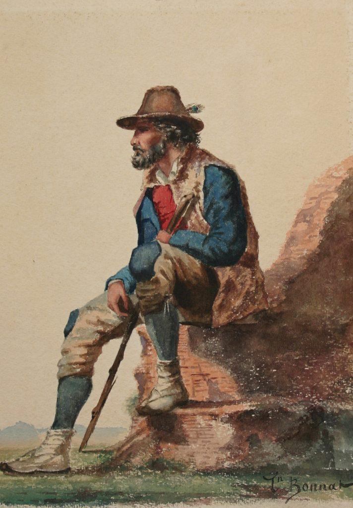 Léon Bonnat le berger Italie