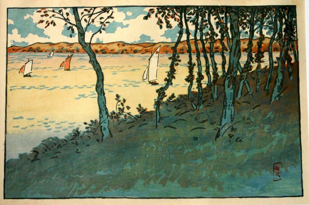 Henri Rivière gravure sur bois Loguivy Saint Briac Japonisme Lancieux paysages bretons