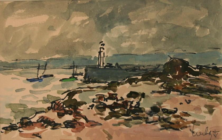 Fernand Herbo peintre de la marine Honfleur