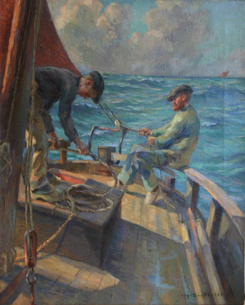 Eugène Delecluse pêcheur voile